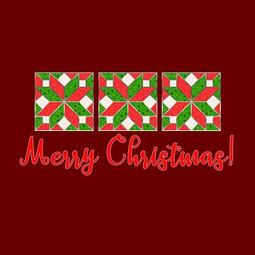 Christmas Quilters Star Block Pattern by Dlinca