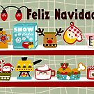 Christmas Kitchen Spanish Card by Sonia Pascual