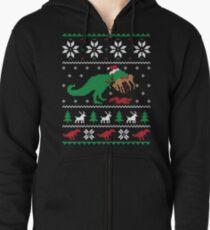 Dinosaurier hässliche Weihnachtsstrickjacke - lustiges Weihnachtsgeschenk Kapuzenjacke