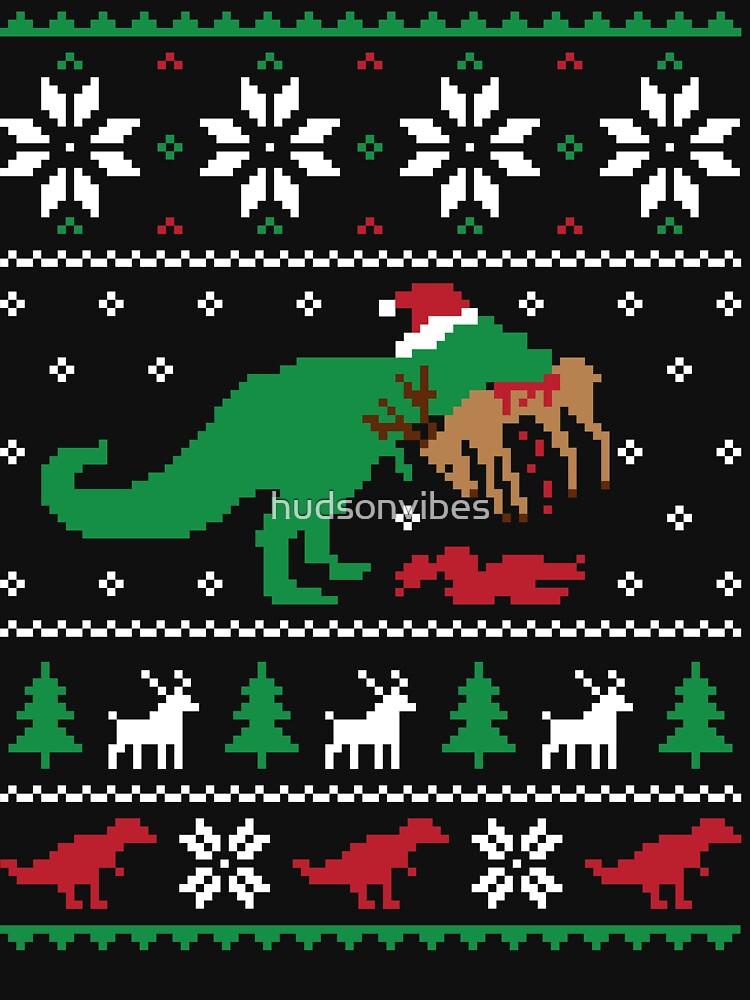 Dinosaur Ugly Christmas Sweater - Funny Christmas Gift by hudsonvibes