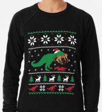 Dinosaurier hässliche Weihnachtsstrickjacke - lustiges Weihnachtsgeschenk Leichter Pullover