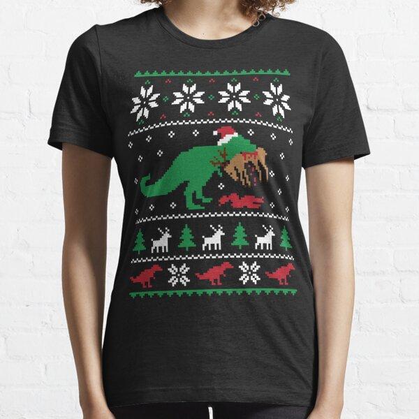 Dinosaurier hässlicher Weihnachtspullover - lustiges Weihnachtsgeschenk Essential T-Shirt