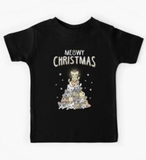 Meowy Christmas Kids T-Shirt