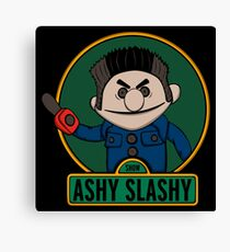 The ashy slashy show Canvas Print