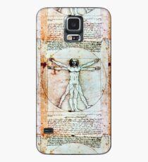 VITRUVIAN MAN Leonardo Da Vinci Antique Parchment Case/Skin for Samsung Galaxy