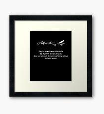 Alexander Hamilton Quote. Success / Genius Framed Print