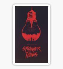 the upside down stranger things Sticker