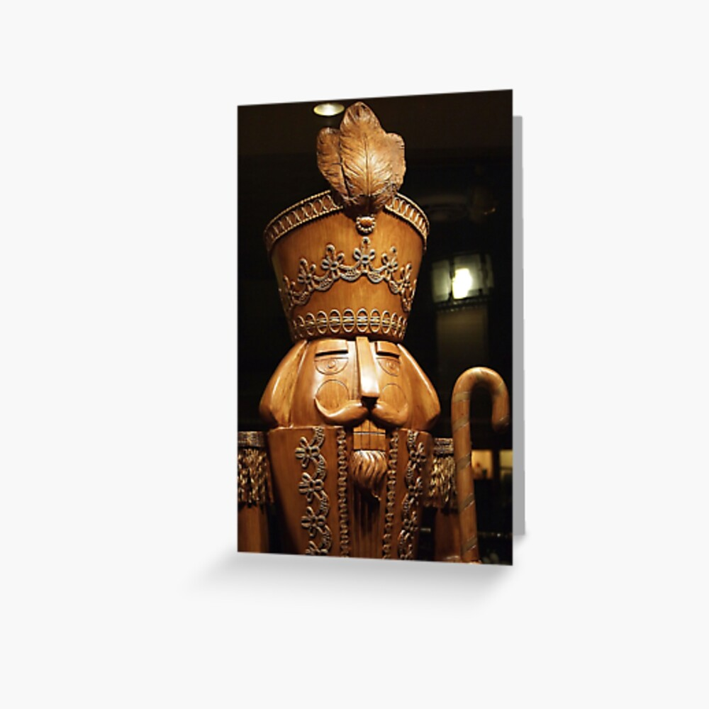 Wooden Nutcracker for Christmas 2 Greeting Card