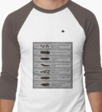Bristol Stool Chart BINGO! Men's Baseball ¾ T-Shirt