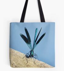 Damselfly on La Vienne river, Loire, France Tote Bag