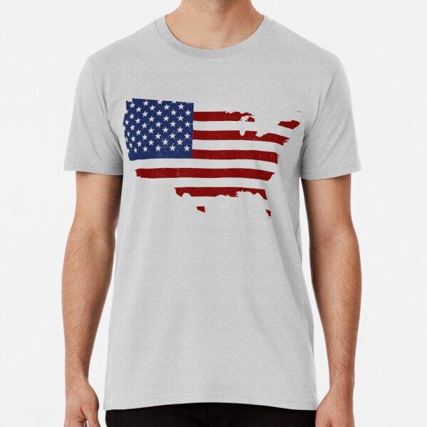 American Pride flag map Premium T-Shirt