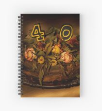 Birthday cake nr 40 Spiral Notebook