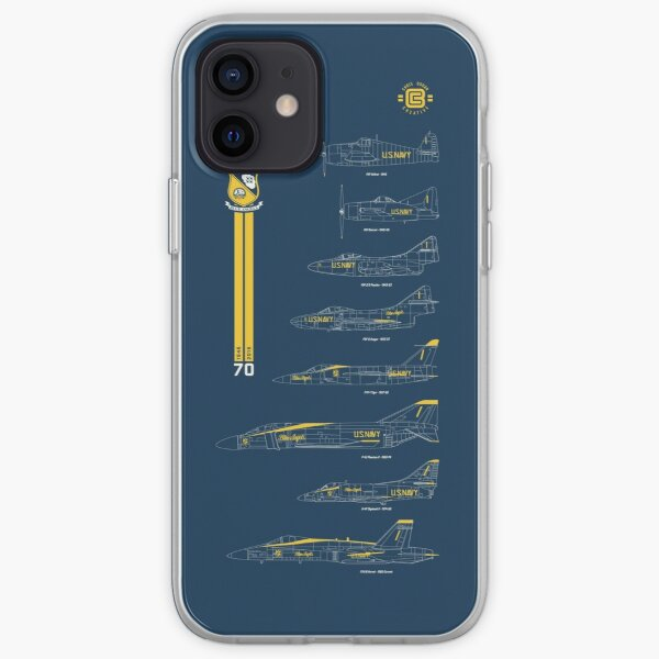 Blue Angels Chronology Blueprint Funda blanda para iPhone