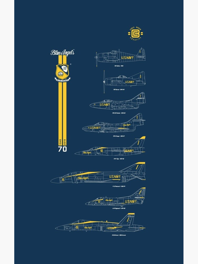 Blue Angels Chronology Blueprint by cbogancreative