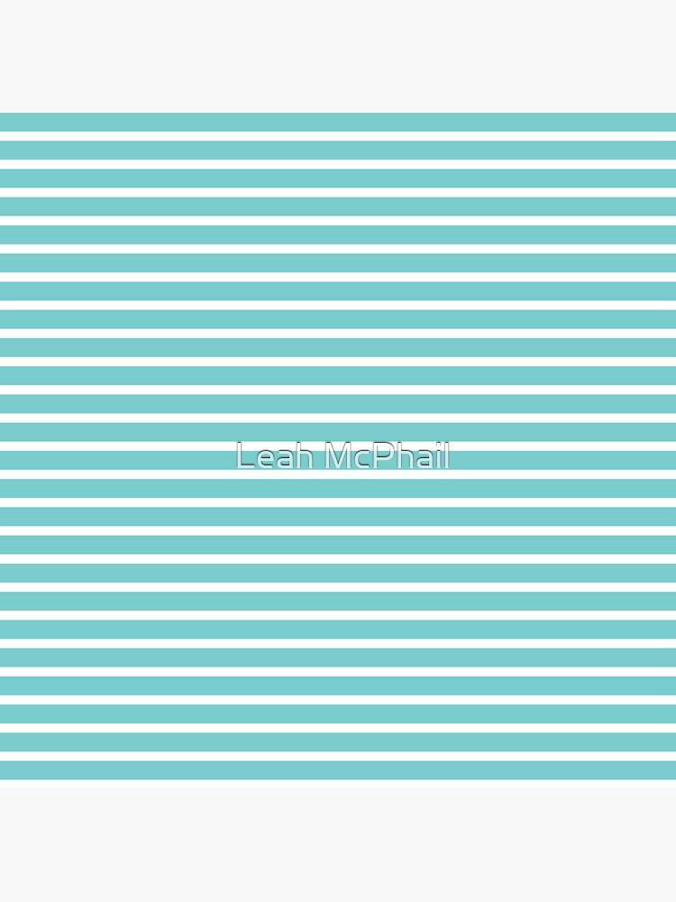 Nautical Teal Sea Breeze Horizontal Stripes by LeahMcPhail