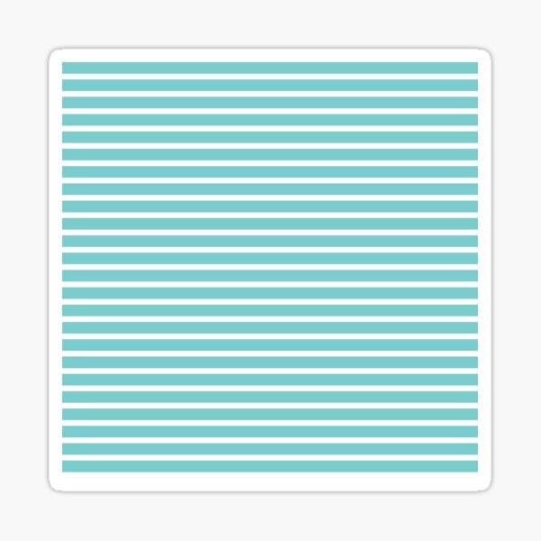 Nautical Teal Sea Breeze Horizontal Stripes Sticker