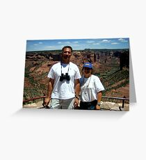 Peter and Laurie at Spider Rock, Arizona Greeting Card