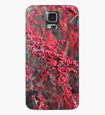 Red berries in Cambridgeshire, England Case/Skin for Samsung Galaxy