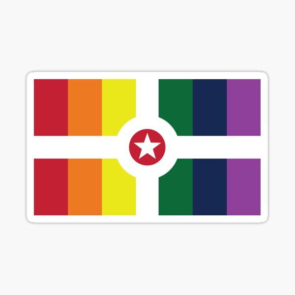 Indianapolis Pride Flag 2018 Sticker