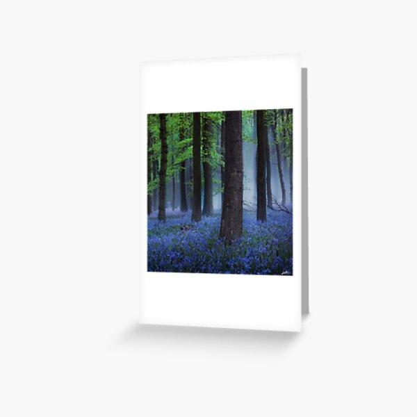 Misty Blue Greeting Card