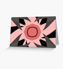 Pink Palm Trees Greeting Card