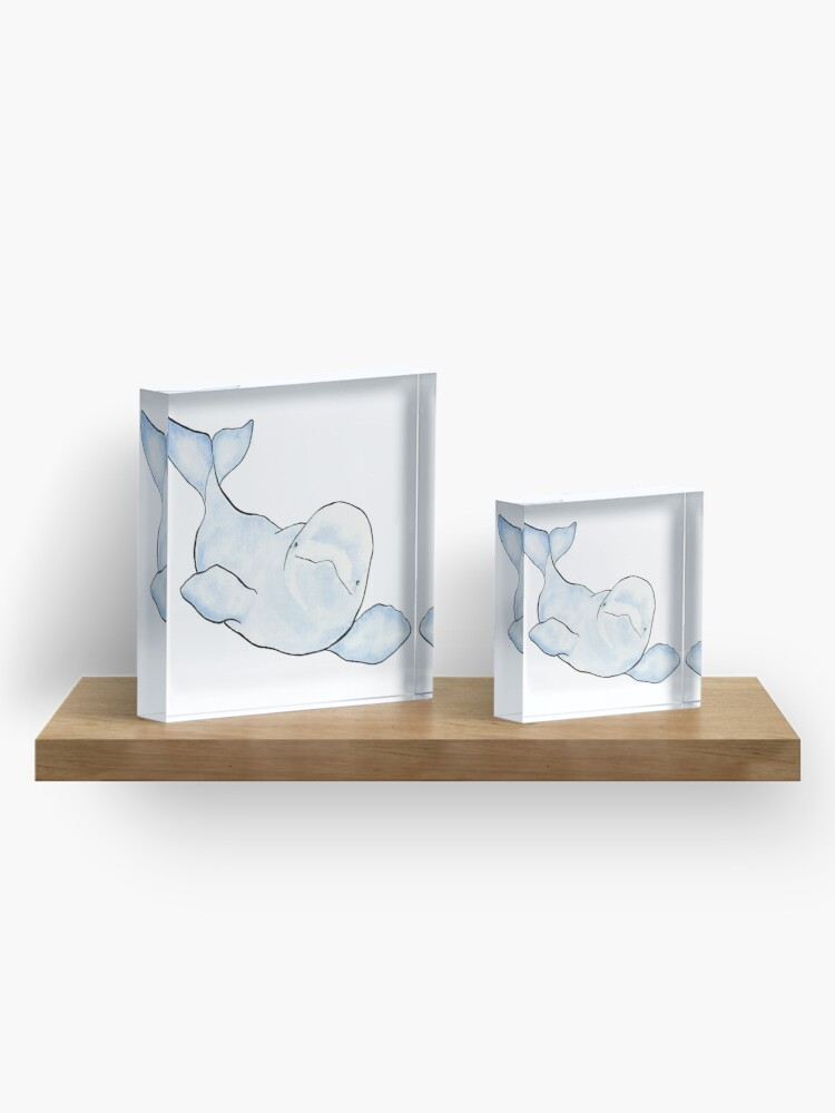 Alternate view of Beluga Wave Acrylic Block