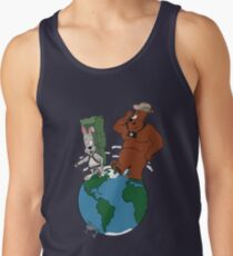 Bear and Rabbit go globetrotting Tank Top