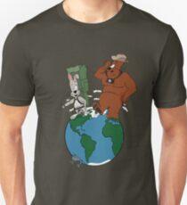 Bear and Rabbit go globetrotting Unisex T-Shirt