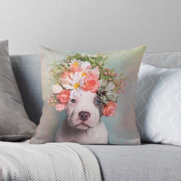 Flower Power, PegLeg Throw Pillow