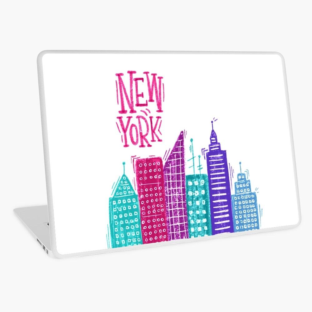 New York Pencil drawing Laptop Skin