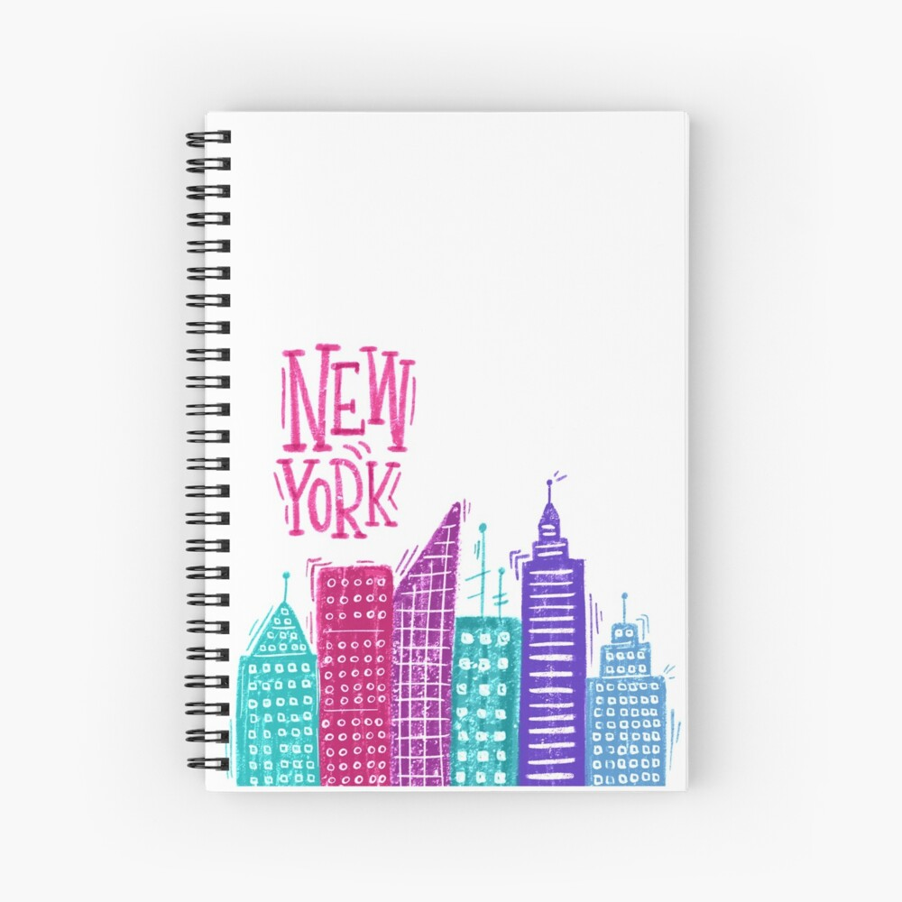 New York Pencil drawing Spiral Notebook