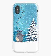 Totoro on the Snow iPhone Case/Skin