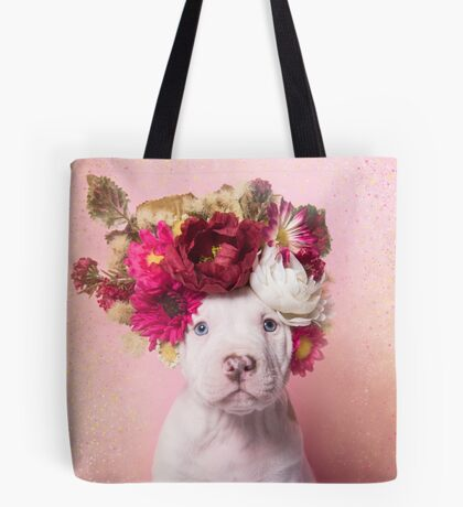 Flower Power, Ruffles Tote Bag