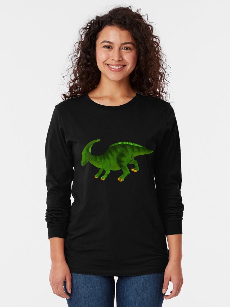 Alternate view of Parasaurolophus Long Sleeve T-Shirt