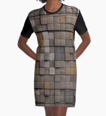 Holzmuster T-Shirt Kleid