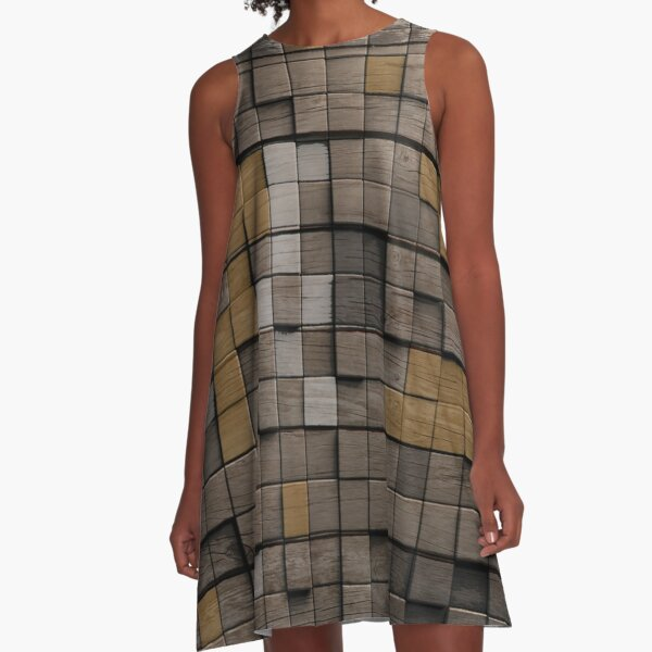 Wood pattern A-Line Dress
