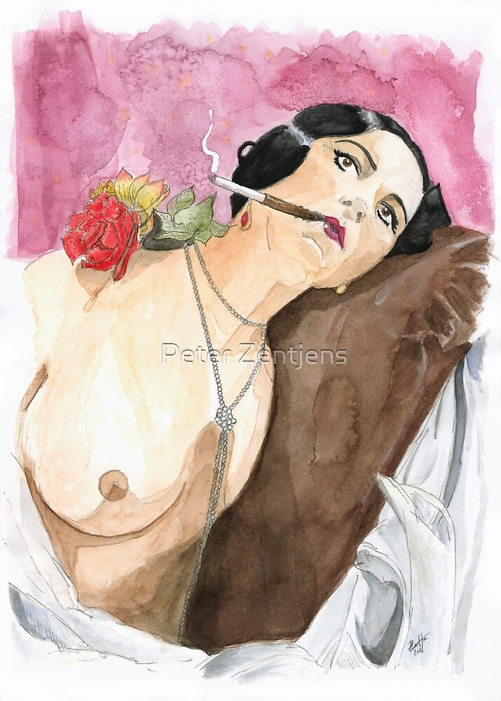 The smoking lady of the boudoir by Peter Zentjens
