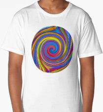 Prismatic Psychedelic Whirlpool Long T-Shirt
