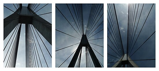 The Anzac Bridge - triptych by Peter Zentjens