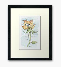 drEyed Rose Framed Print