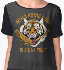 Never Bring A Bat To A Cat Fight Shirts Women's Chiffon Top
