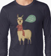 Holiday Llama Long Sleeve T-Shirt