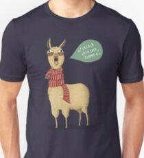Camiseta ajustada Llama de vacaciones
