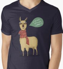 Holiday Llama Men's V-Neck T-Shirt