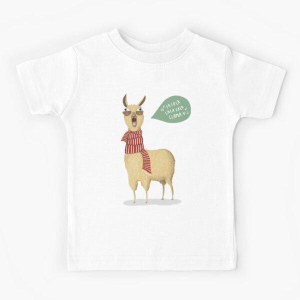 Christmas holiday Llama Kids T-Shirt