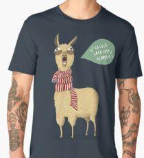 Holiday Llama Men's Premium T-Shirt