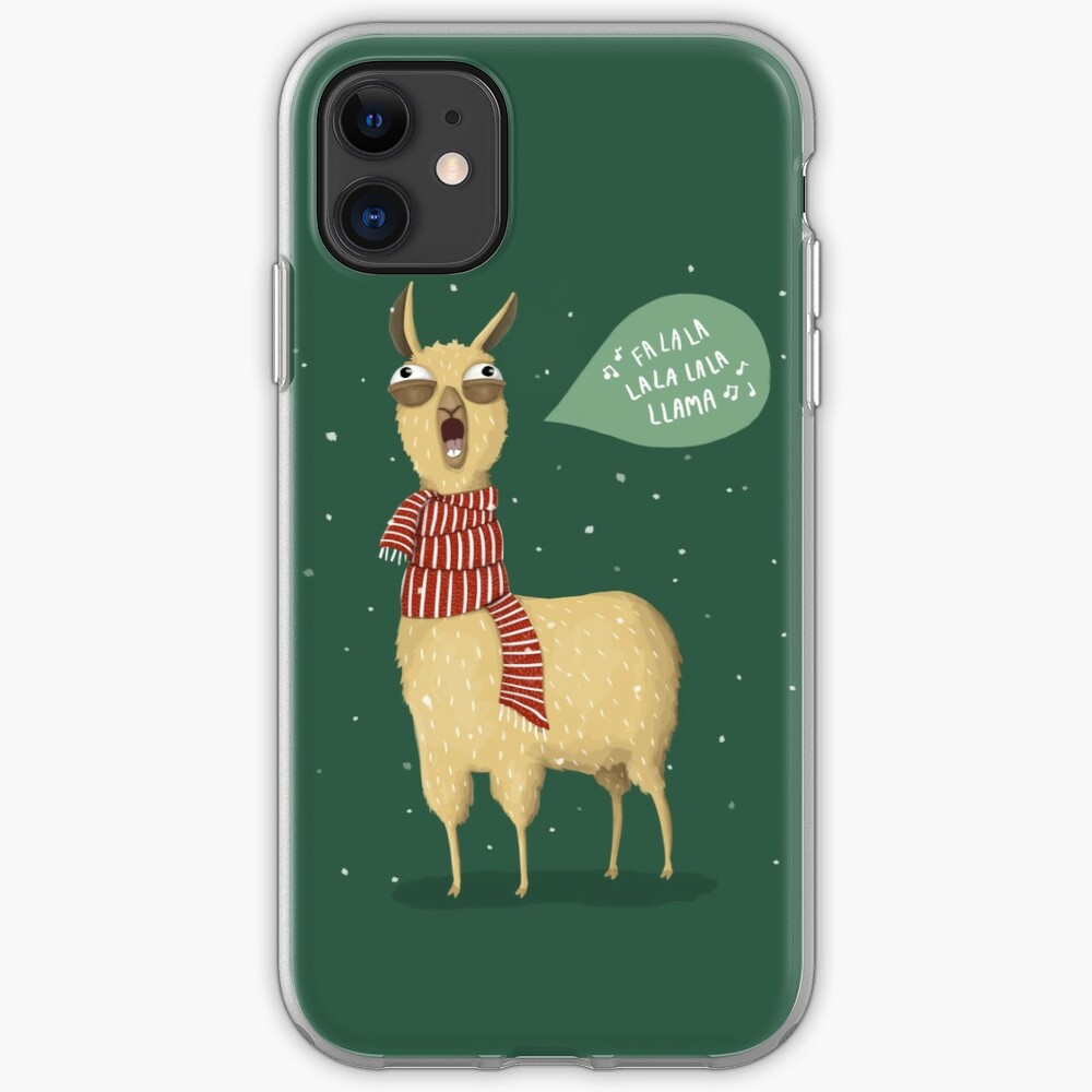 Christmas holiday Llama iPhone Case & Cover