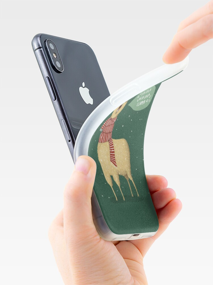 Alternate view of Christmas holiday Llama iPhone Case & Cover