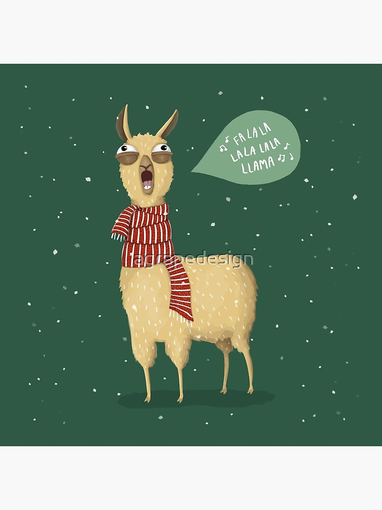 Christmas holiday Llama by agrapedesign
