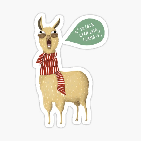 Christmas holiday Llama Sticker